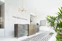 The Maple Building reception NW5 Kentish Town front desk