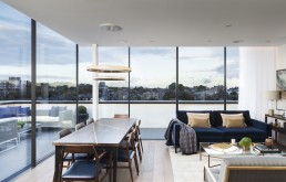 Maple building London Kentish Town NW5 new build home penthouse apartments living dining room
